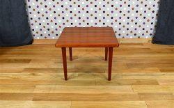 Table Basse Carrée Design Scandinave en Teck Vintage 1965 – A1916