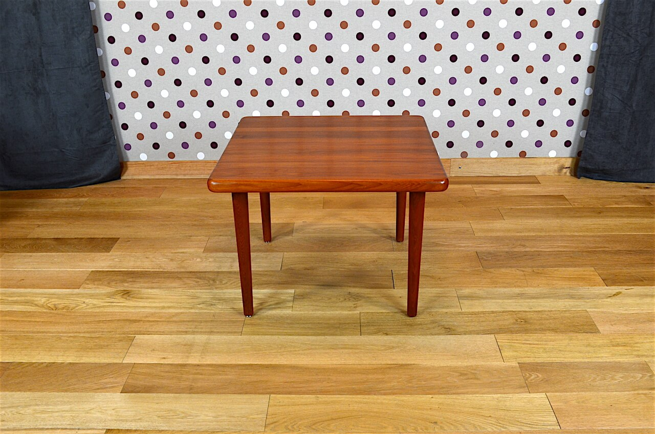table basse carr e design scandinave en teck vintage 1965 design vintage avenue