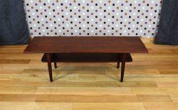 Table Basse Design Scandinave en Teck Samcom Vintage 1960 - A1612