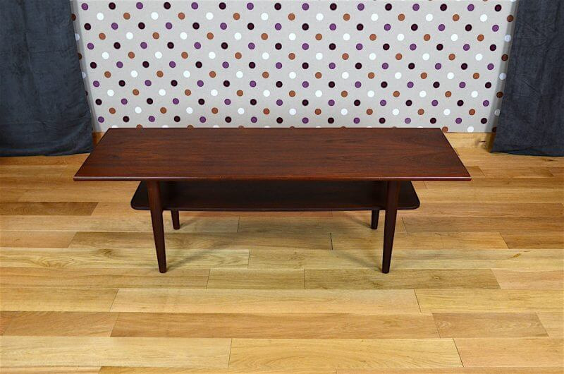 Table basse design scandinave en teck samcom vintage 1960 for Table basse retro design