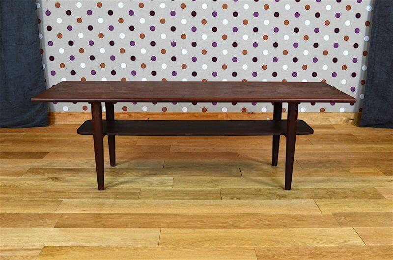 table basse design scandinave en teck samcom vintage 1960 design vintage avenue. Black Bedroom Furniture Sets. Home Design Ideas