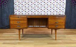 Bureau Design Scandinave en Zébrano Vintage 1960 - A2008