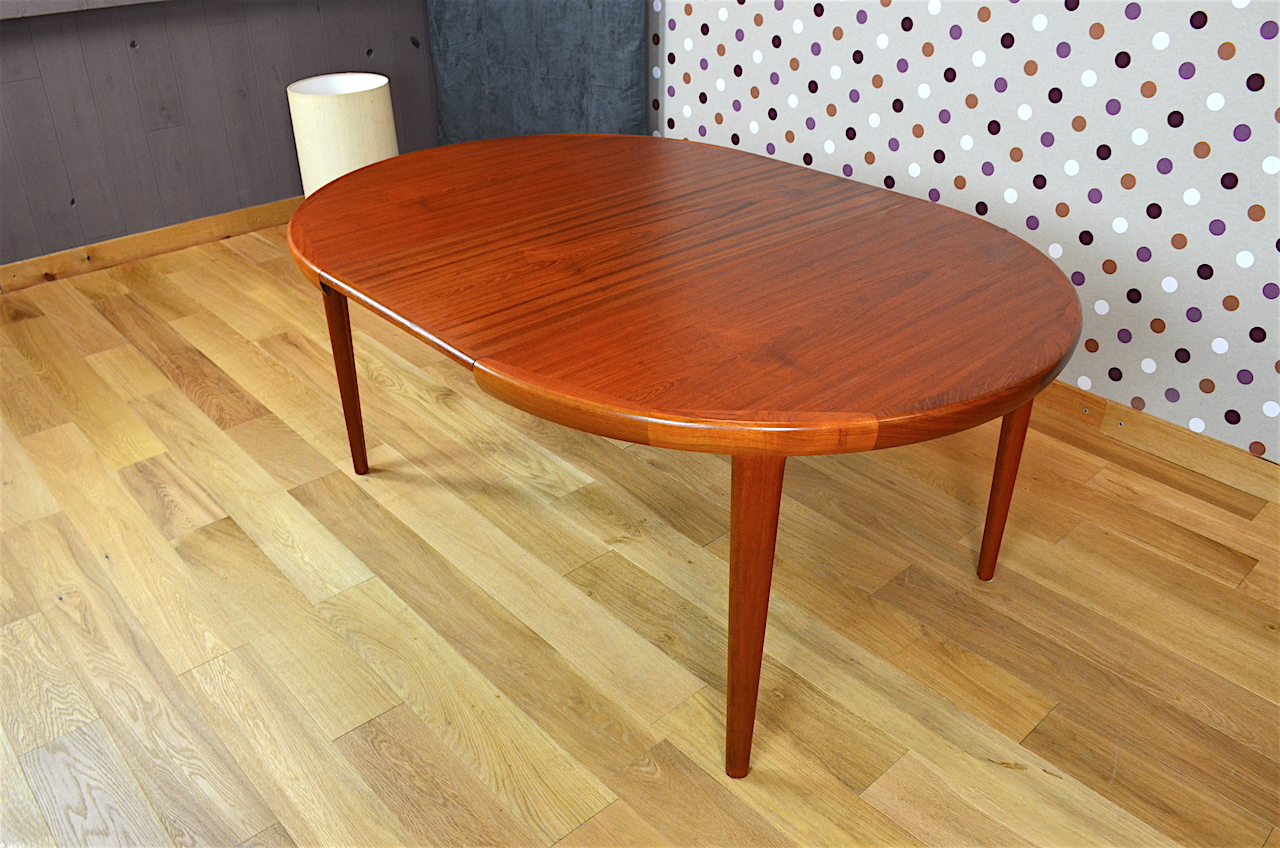Table ronde design scandinave en teck v v mobler vintage - Table ronde cocktail scandinave ...