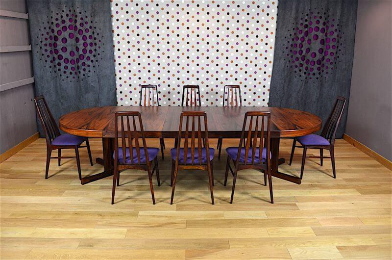 Salle manger designers danois en palissandre de rio for Salle a manger 1960
