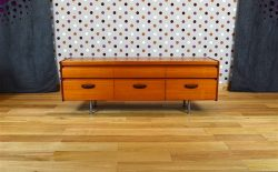 Commode Basse Design Scandinave en Teck Vintage 1965 - A1875