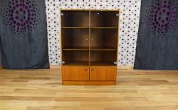 Bibliothèque Vitrine Design Scandinave en Teck Vintage 1960 - A1830
