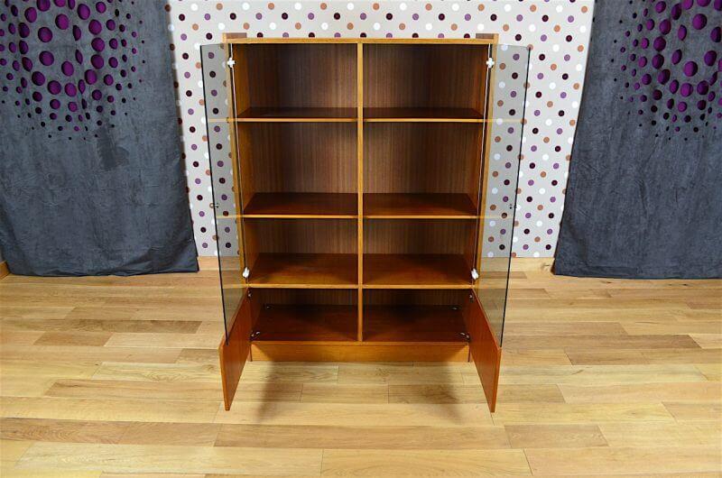 Biblioth que vitrine design scandinave en teck vintage - Bibliotheque scandinave vintage ...