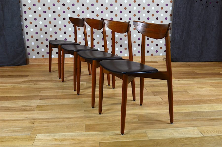 4 chaises danoise en teck harry ostergaard vintage 1960 designvintageavenue - Boutique design scandinave meubles ...