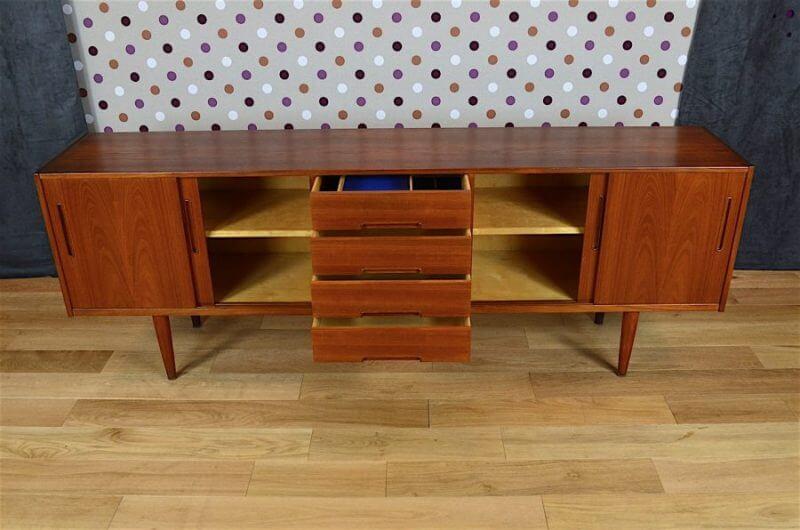 Enfilade design scandinave en teck nils jonsson vintage 1960 designvintagea - Boutique design scandinave meubles ...