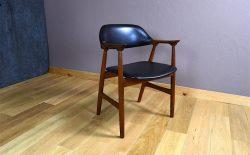 Fauteuil de Bureau Design Scandinave en Teck Vintage 1960 - A1983