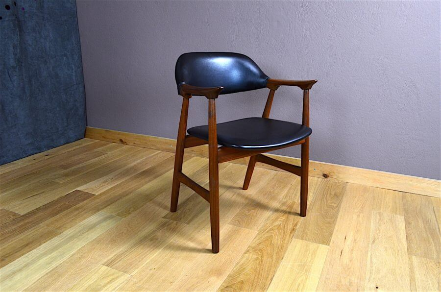 fauteuil de bureau design scandinave en teck vintage 1960 design vintage avenue. Black Bedroom Furniture Sets. Home Design Ideas