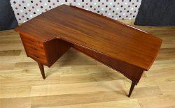 """Bureau """"Boomerang"""" en Teck Lelangs Mobelfabrik Vintage 1960 - A1869"""