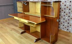 Bureau Malle « Magic Box » Design Scandinave en Acajou Vintage 1960 - VENDU