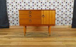 Meuble / Enfilade Design Scandinave Style Teck Vintage 1970 - A1998