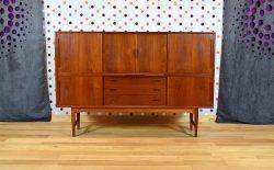 Enfilade Highboard Design Scandinave en Teck Vintage 1960 - A1971