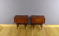Paire de Chevets Design Scandinave en Teck Vintage 1960 - A2009 & A2014