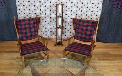Paire de Fauteuils Design Vintage Rétro Année 1960 - A2076 A2077