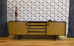 Enfilade Basse Moderniste en Formica Vintage 1960 / 1970 - A1857