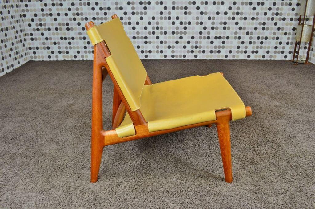 chauffeuse fauteuil design scandinave en teck vintage 1960. Black Bedroom Furniture Sets. Home Design Ideas