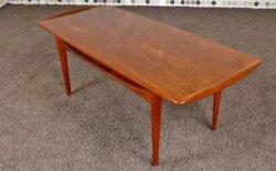 Table Basse Scandinave en Teck Vintage 1955 de Edvard Kindt-Larsen