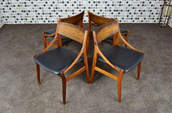 4 Chaises en Palissandre de Rio Vestervig Eriksen Vintage 1960