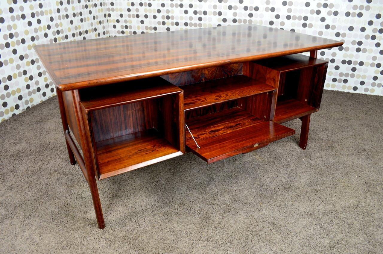 bureau danois palissandre de rio gunni omann vintage 1955. Black Bedroom Furniture Sets. Home Design Ideas
