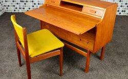 Bureau Secrétaire Danois en Teck de Arne Wahl Iversen Vintage 1960