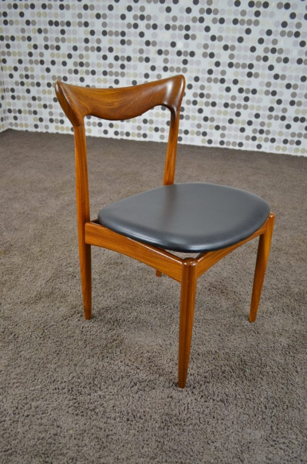 6 Chaises Scandinave Henry Walter Klein Vintage Années 60