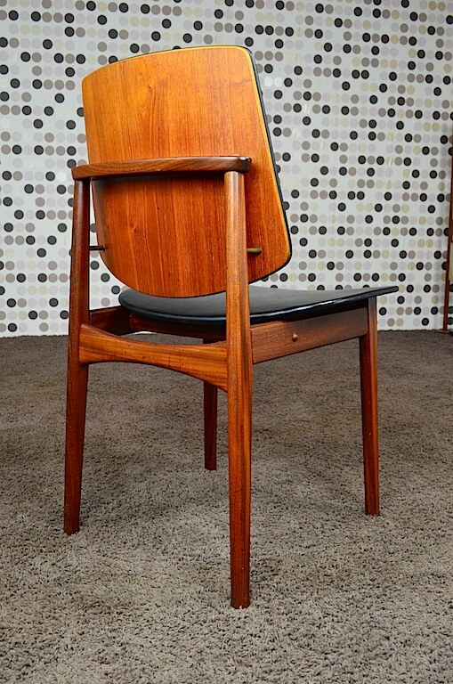 6 chaises danoise en teck vintage 1960 arne hovmand olsen. Black Bedroom Furniture Sets. Home Design Ideas