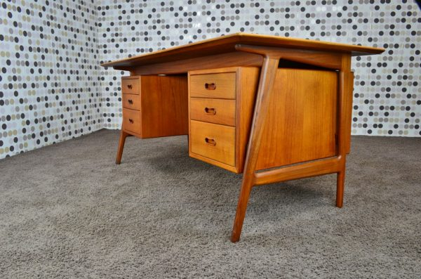 Bureau Design Danois en Teck de Arne Vodder Vintage 1960