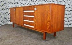 Enfilade Design Scandinave en Teck A. Hendrickx Vintage 1960