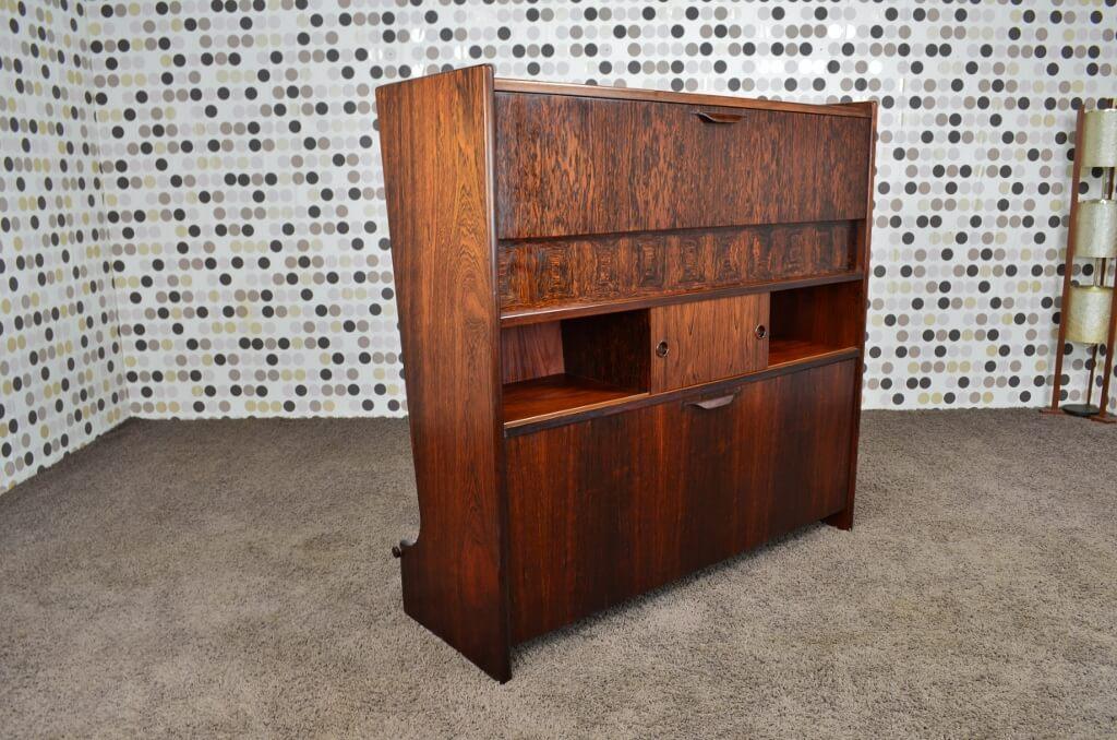 bar danois en palissandre de rio j andersen vintage 1961. Black Bedroom Furniture Sets. Home Design Ideas