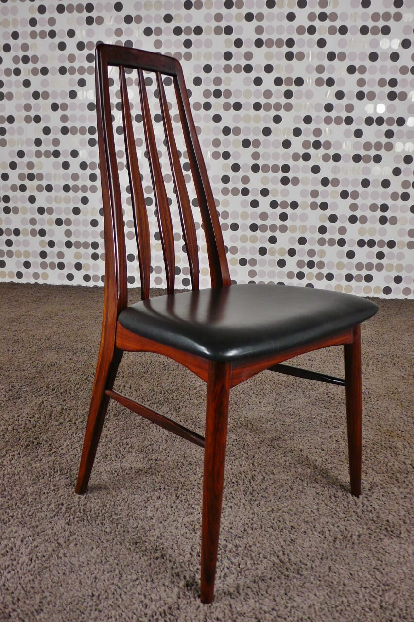 6 chaises scandinave eva en palissandre de rio n koefoeds. Black Bedroom Furniture Sets. Home Design Ideas