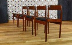 Chaises Scandinave en Teck de Grete Jalk Vintage 1960