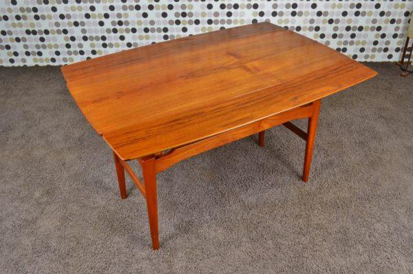 Table Transformable Danoise en Teck Niels Bach Vintage 1965