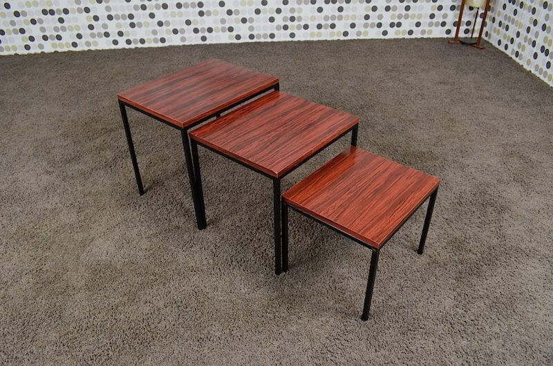 3 Tables Gigognes Dutch Design Vintage Des Ann Es 1950 Design Vintage Avenue