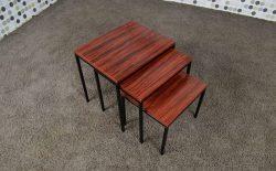 3 Tables Gigognes Dutch Design Vintage des Années 1950