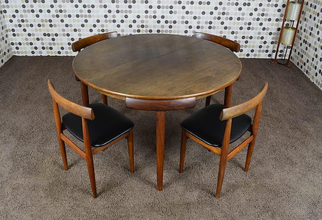ensemble de repas table chaises scandinave hans olsen vintage 1952. Black Bedroom Furniture Sets. Home Design Ideas