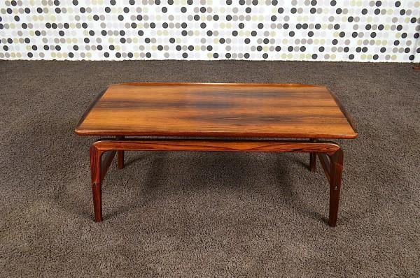 Table Basse Scandinave en Palissandre de Rio A. H. Olsen Vintage 1960