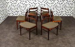 6 Chaises Danoise en Palissandre de Rio Henning Kjaernulf Vintage 1962