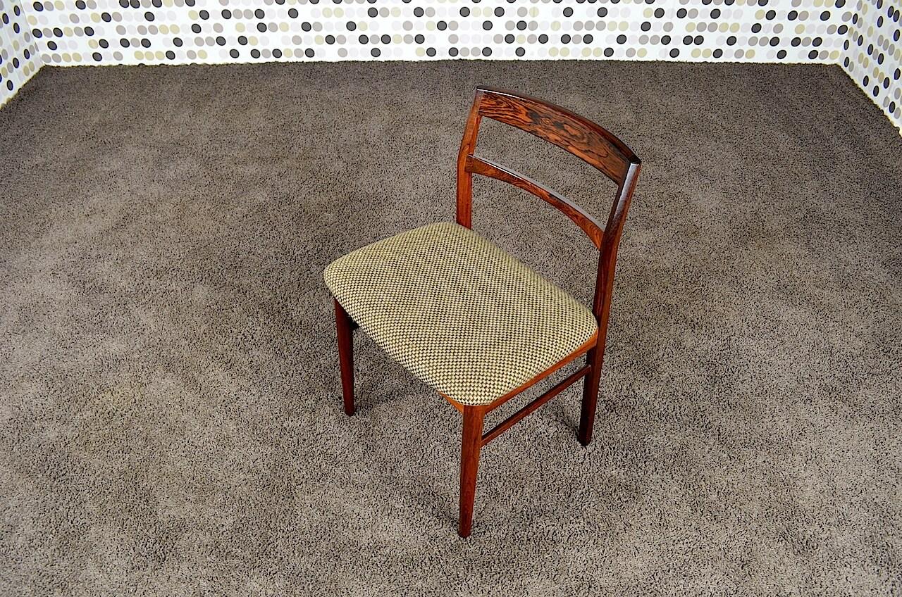 6 chaises danoise en palissandre de rio henning kjaernulf vintage 1962. Black Bedroom Furniture Sets. Home Design Ideas