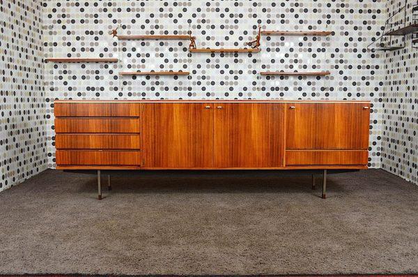 Enfilade design en Palissandre de Rio vintage 1960
