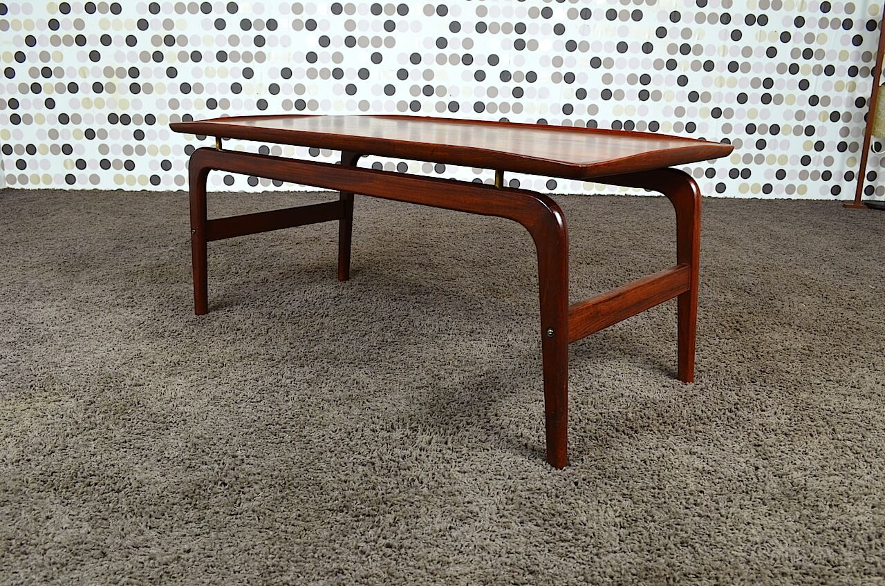 Table basse danoise en teck arne hovmand olsen vintage for Table basse danoise
