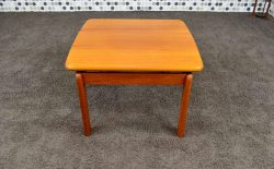 Table Basse Carrée Scandinave en Teck Massif Vintage 1965