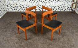 4 Chaises Scandinave en Teck de Hans Olsen Vintage 1960