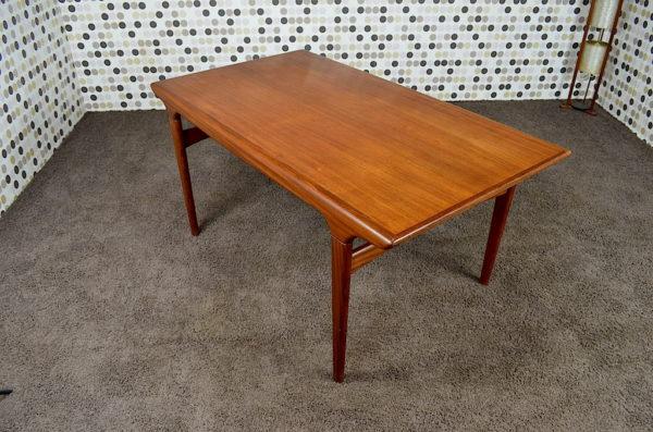 Table Design Scandinave en Teck Vintage des Années 1950 / 1960