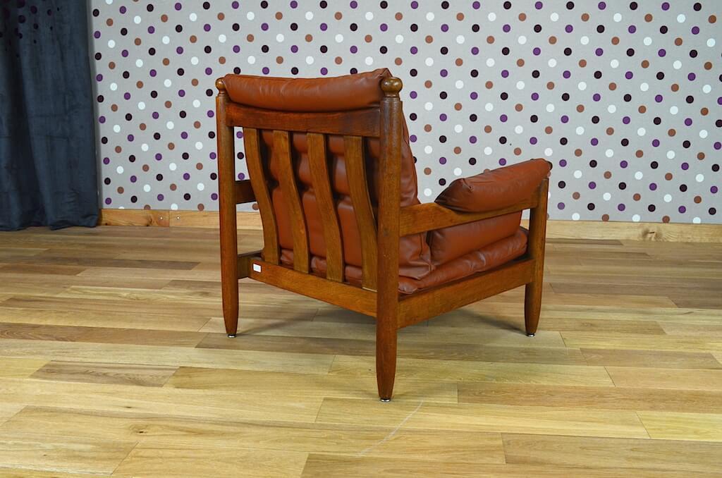 Salon cuir design scandinave banquette 2 fauteuils Salon banquette et fauteuil