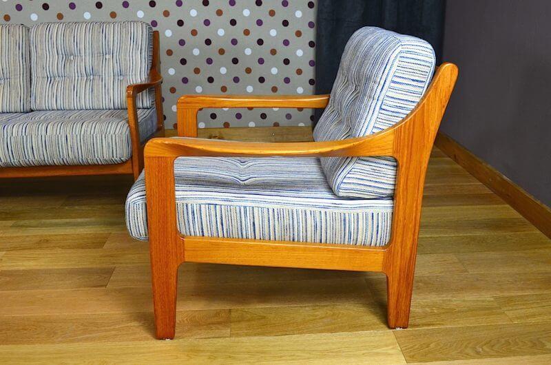 Salon compos d une banquette et 2 fauteuils vintage 1960 Salon banquette et fauteuil