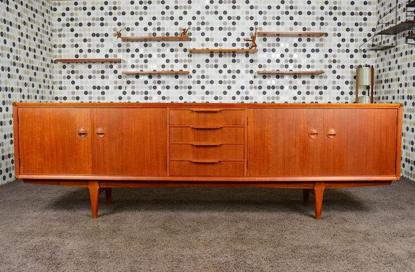 Enfilade Design Danoise en Teck Fristho Vintage 1960
