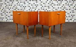 Paire de Chevets Design Scandinave en Teck Vintage 1960 / 1970